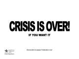 Crisis is over! (if you want)