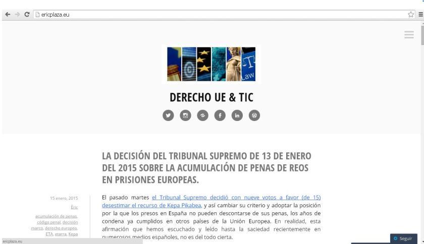 derecho ue, tic, nuevas tecnologías, derecho digital, eric plaza, blog